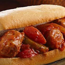 Fat Ducks Italian Sausage Sandwich